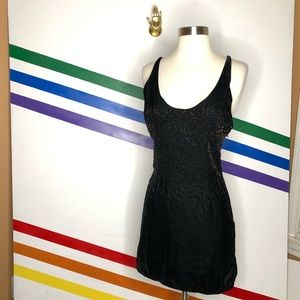 NEW Urban Outfitters velvet beaded dress